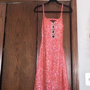 Scala Sequin Prom Dress